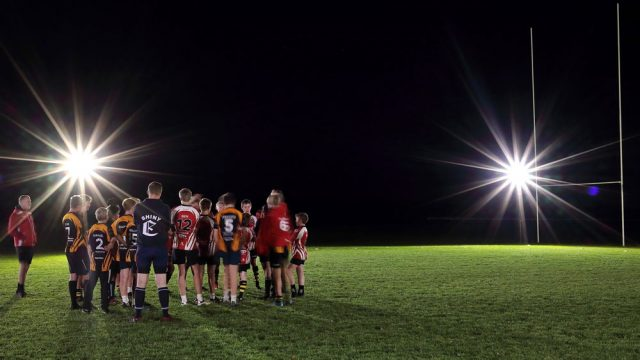 Battery Powered Wireless FloodLight. Rugby lighting