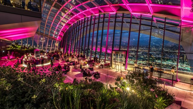 Up Lighted London Sky Garden