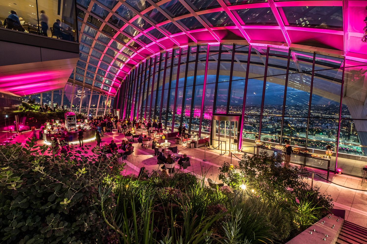 Up Lighted London Sky Garden