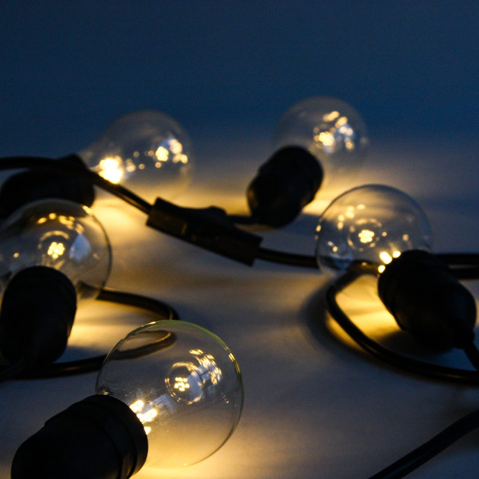 Battery Powered Art & Exhibition Lighting - Festoon Lights - Core Lighting