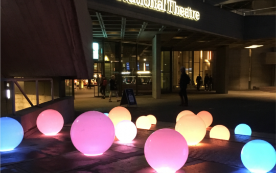 Wireless Battery Powered TablePoints ( Table Lamps) being used at the National Theatre