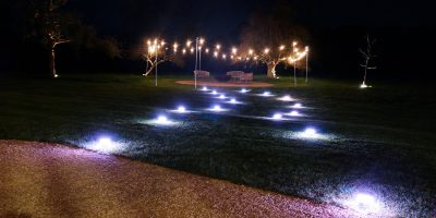 Battery Powered Table Lamps being used during a wedding